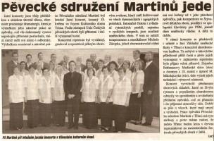 Pěvecké sdružení Martinů jede