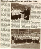 Pěvecké sdružení Martinů zazářilo v Itálii