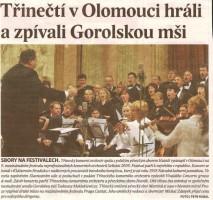 Třinečtí v Olomouci hráli a zpívali Gorolskou mši