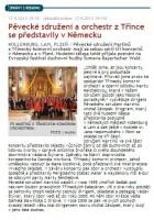 Pěvecké sdružení a orchestr z Třince se představily v Německu