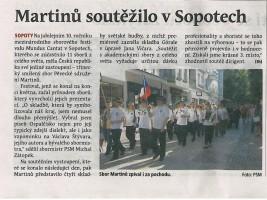 Martinů soutěžilo v Sopotech