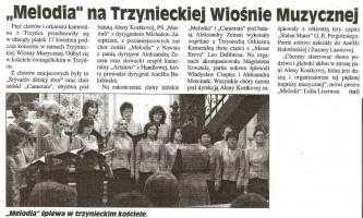 """""""Melodia"""" na Trzynieckiej Wiosńie Muzycznej"""
