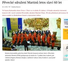Pěvecké sdružení Martinů letos slaví 60 let