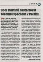 Sbor Martinů nastartoval sezonu úspěchem v Polsku