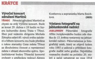 Výroční koncert sdružení Martinů