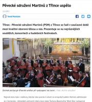 Pěvecké sdružení Martinů z Třince uspělo