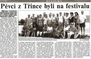 Pěvci z Třince byli na festivalu